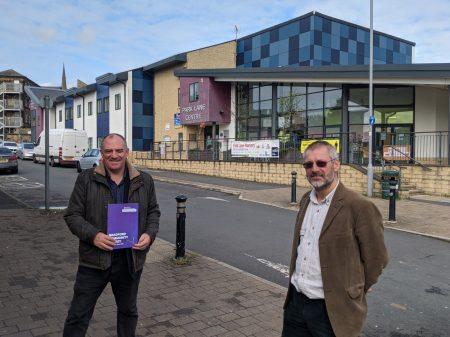Andrew Cooper and Carlton Smith at Park Lane Centre in Bradford